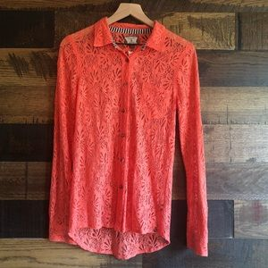 Volcom Not So Classic Lace Button Up Shirt XS